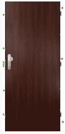 Dveře Bedex Standard 3 tmavé
