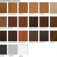 Dostupné odstíny panelových dveří
