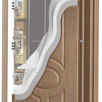Řez panelových dveří RC2