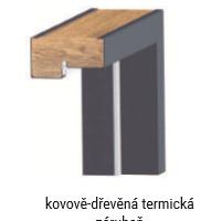 Kovově-dřevěná termická zárubeň