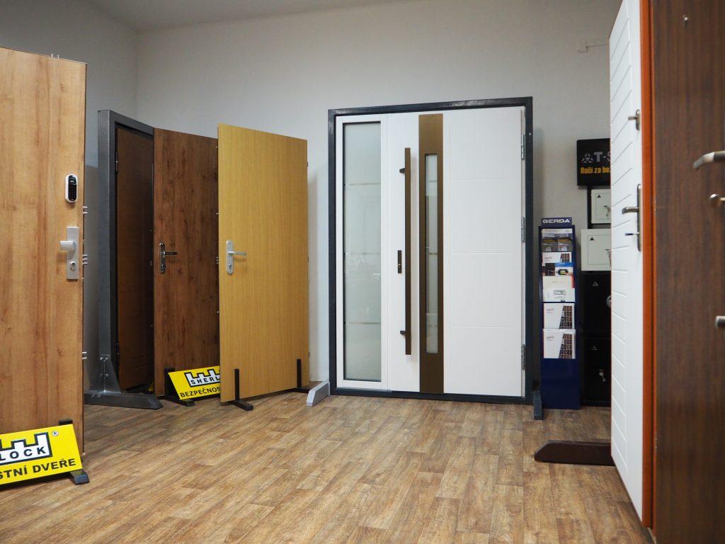 Ukázka bezpečnostních dveří v Pardubicích