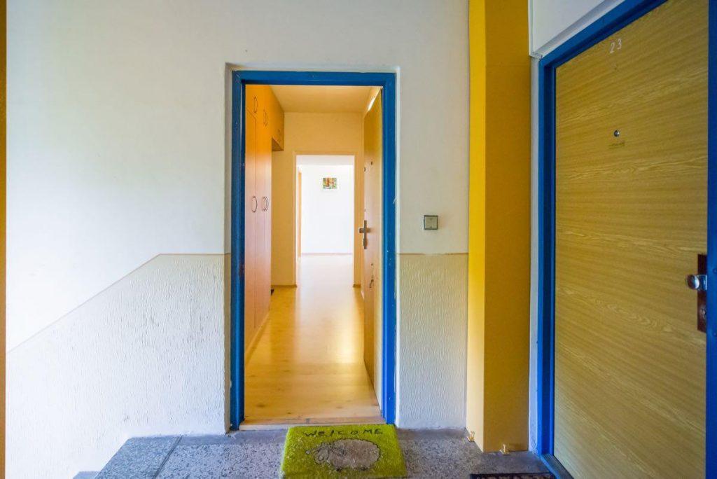 Původní dveře se zárubněmi - poslední pohled