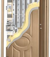 Řez panelovými dveřmi RC4