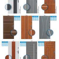 Vzory panelových dveří do bytu 4