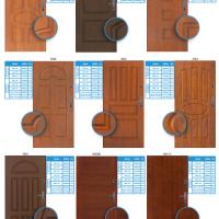 Vzory panelových dveří do bytu