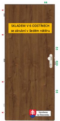 Sherlock K3303 - bezpečnostní bytové dveře třídy 3