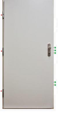 Bezpečnostní dveře do bytu - Gerda CP30 Premium, bílé